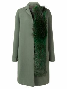 Gianluca Capannolo fox fur detail coat - Green