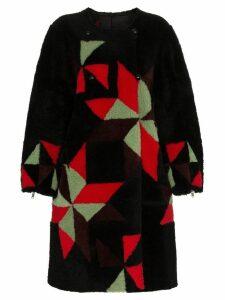 Isabel Marant Aban reversible shearling coat - Black