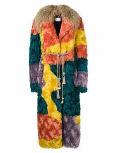 Peter Pilotto multicoloured shearling coat - Yellow