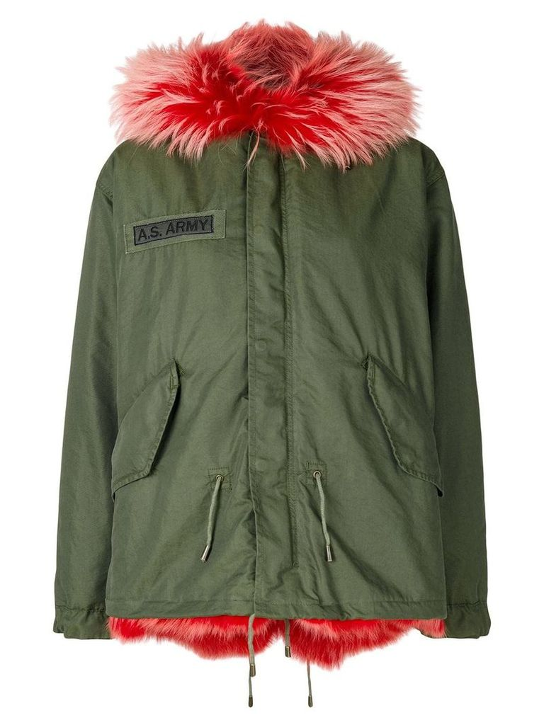 As65 contrast lining coat - Green