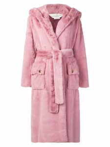 Golden Goose oversized hooded coat - Pink