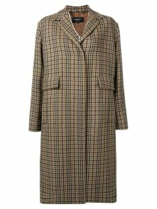 Rochas oversized tartan coat - Neutrals