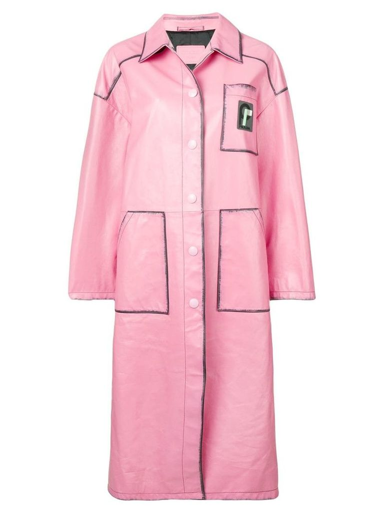 Prada oversized coat - Pink