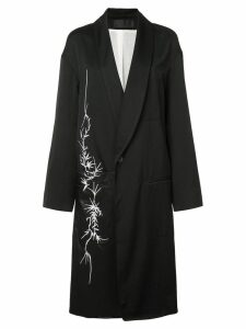 Haider Ackermann floral motif coat - Black