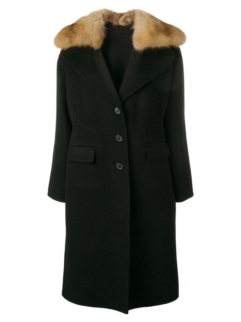 Ermanno Scervino fur trim coat - Black