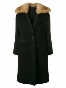 Ermanno Scervino fur trim coat - Black