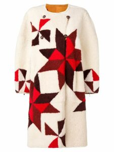 Isabel Marant reversible intarsia coat - Neutrals