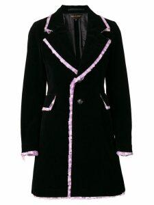 Comme Des Garçons Lace Trim coat - Black