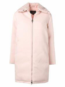 Giambattista Valli fur trimmed zip-up coat - PINK