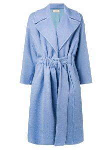 Maison Flaneur belted coat - Blue