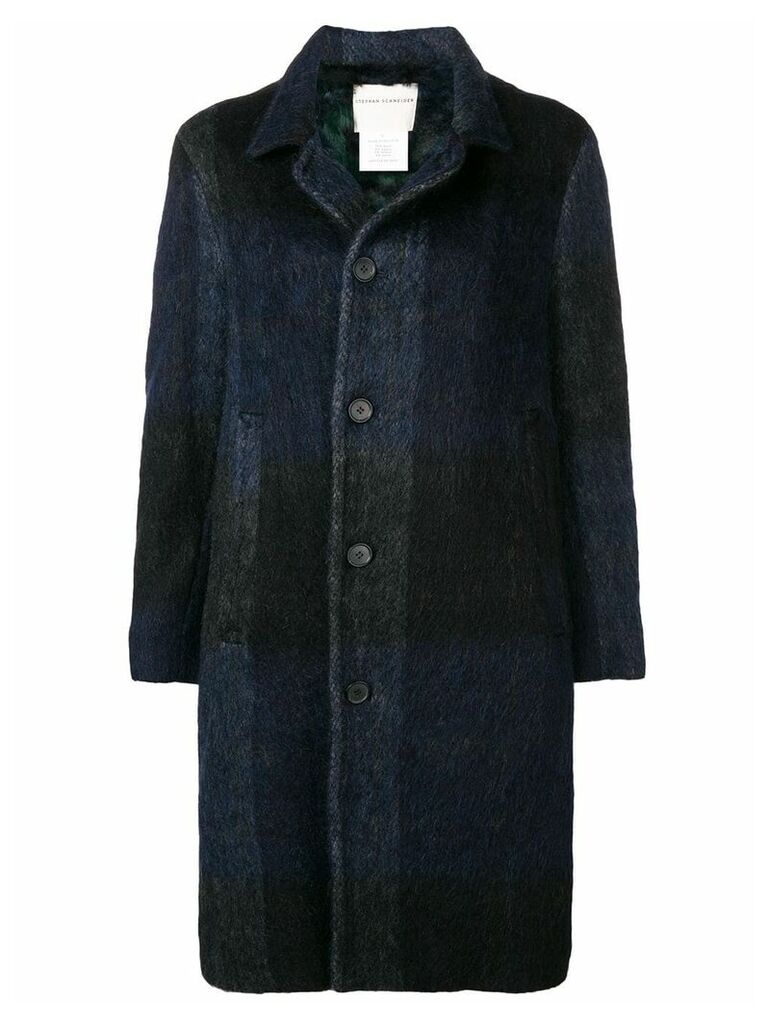 Stephan Schneider Afro single-breasted coat - Black