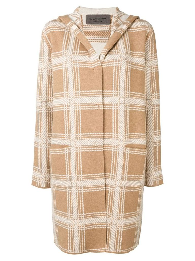 D.Exterior checked coat - Neutrals