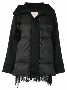 Peuterey padded textured back jacket - Black