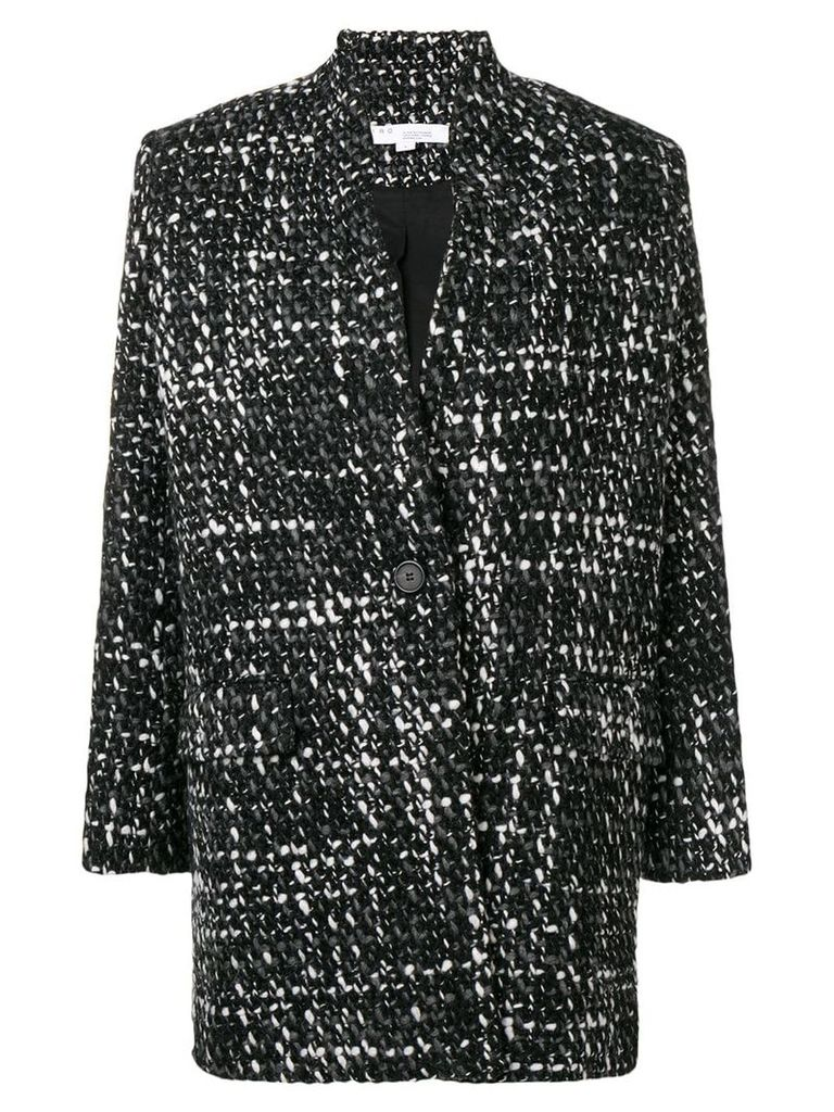 Iro woven single breasted coat - Black