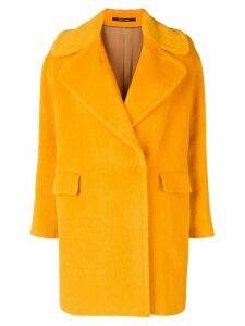 Tagliatore soft textured style coat - Orange