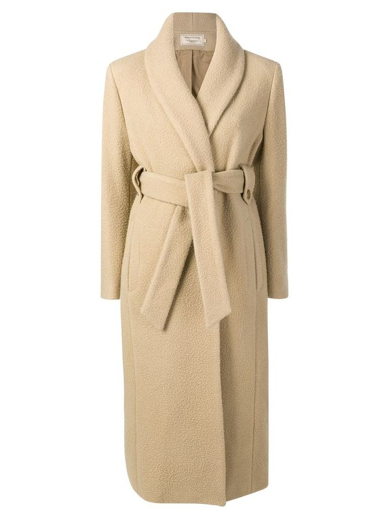 Maison Kitsuné Shaggy Jill coat - Neutrals