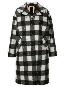 Nº21 embellished single-breasted coat - Black