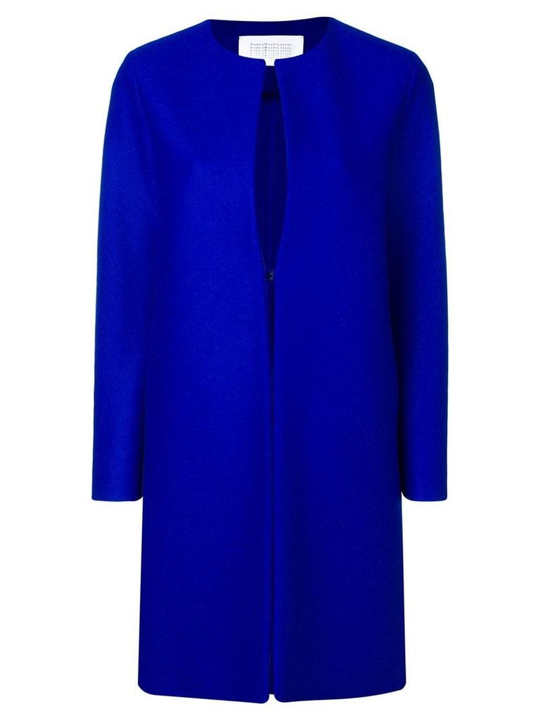 Harris Wharf London straight fit coat - Blue