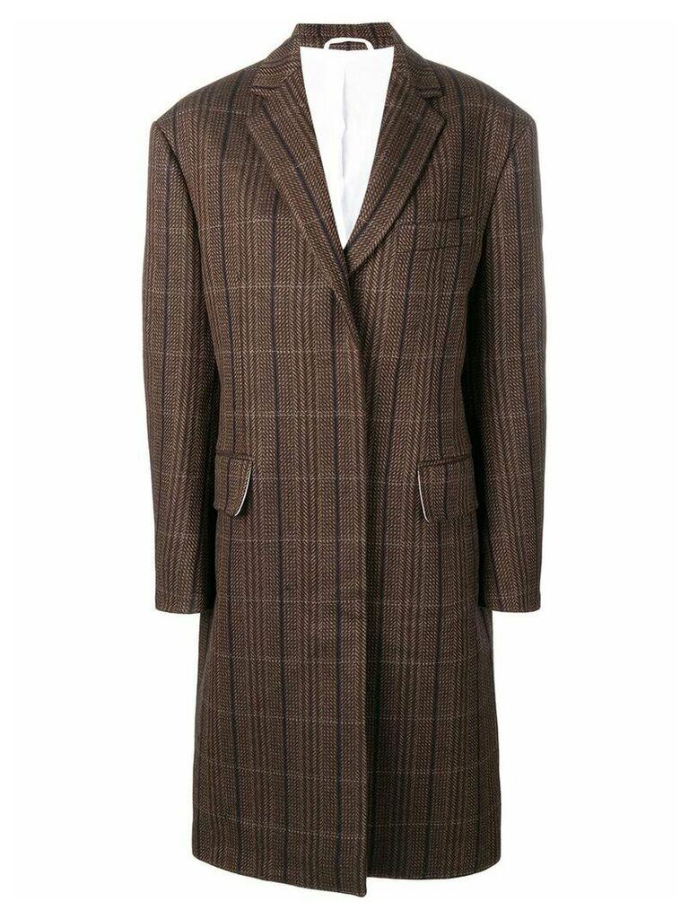 Calvin Klein 205W39nyc oversized tweed coat - Brown