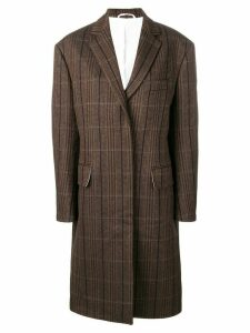 Calvin Klein 205W39nyc oversized tweed coat - Brown