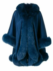 Liska cashmere flared coat - Blue