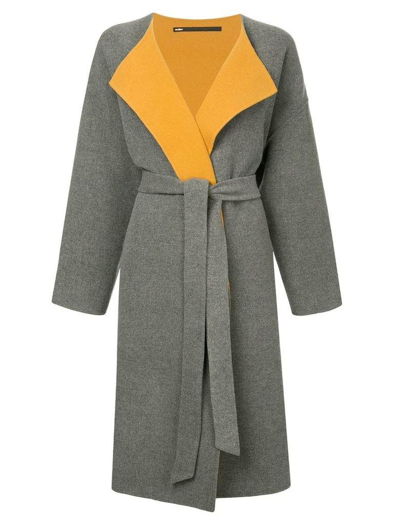 Muller Of Yoshiokubo split gown coat - Grey