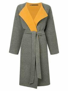 Muller Of Yoshiokubo split gown coat - Grey