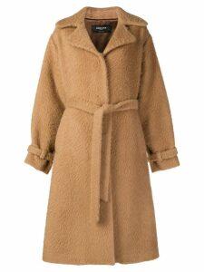 Rochas belted midi coat - Brown
