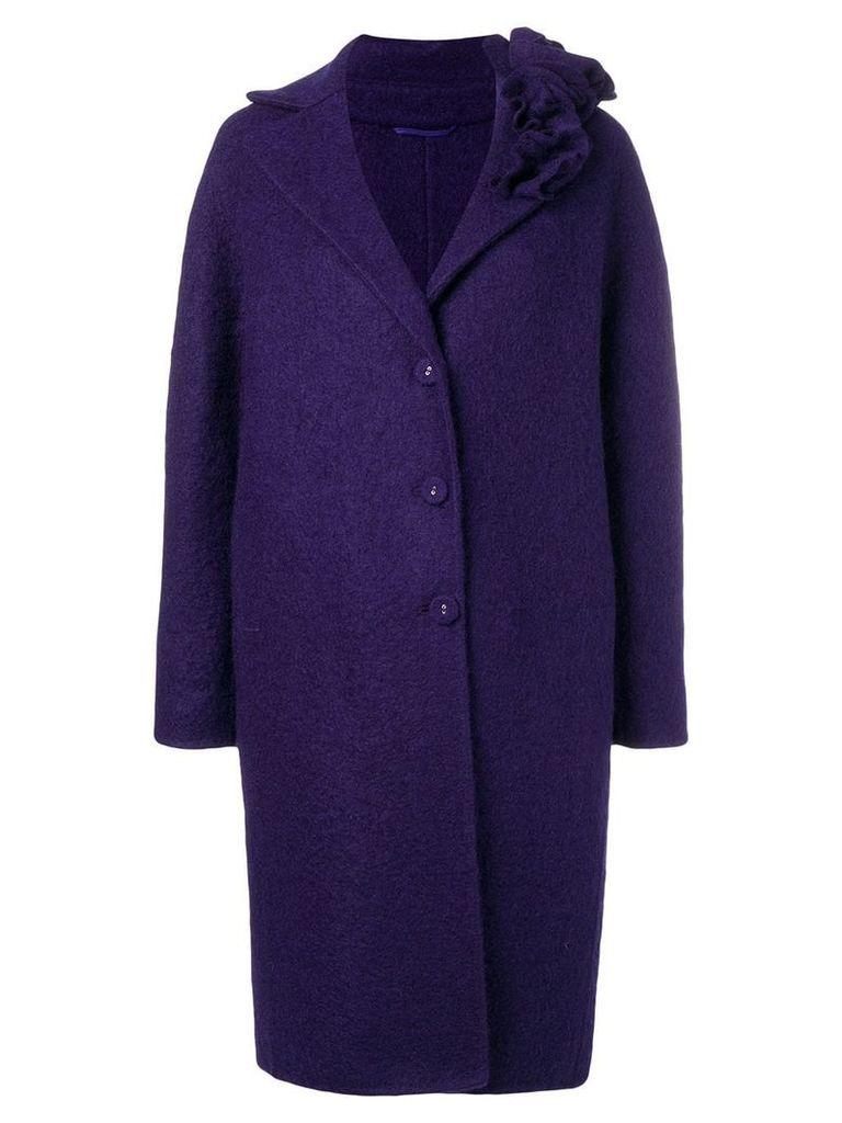 Ermanno Scervino buttoned single-breasted coat - Purple
