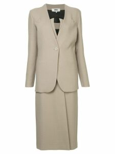 Mm6 Maison Margiela two-piece skirt suit - Neutrals