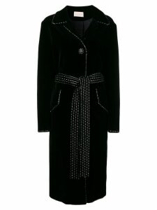 Christopher Kane dot dash velvet coat - Black