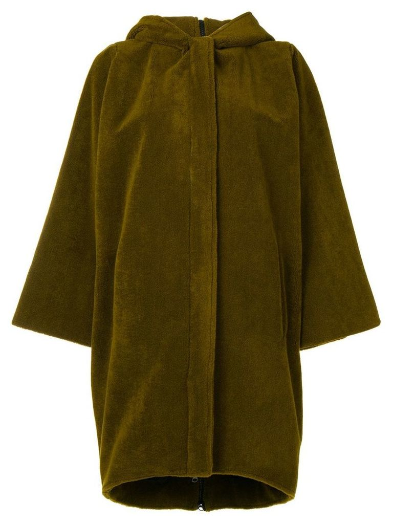 Gianluca Capannolo hooded single-breasted coat - Green