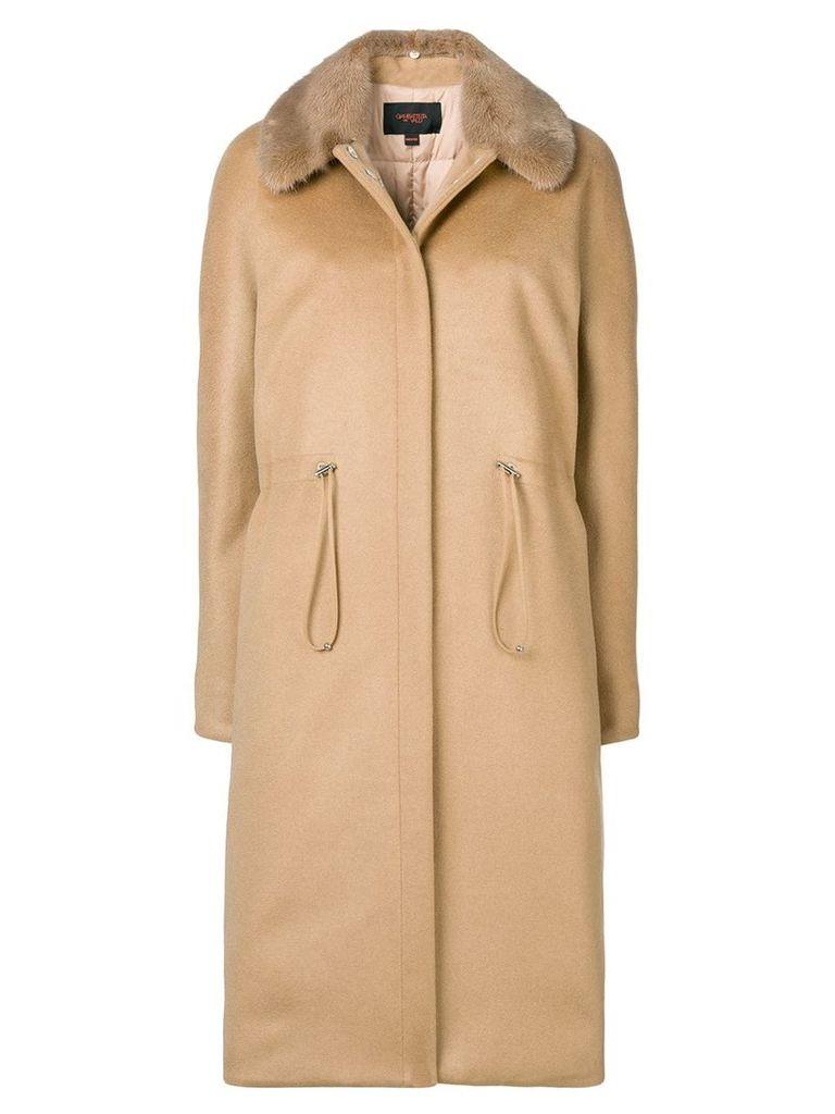Giambattista Valli fitted midi coat - Neutrals