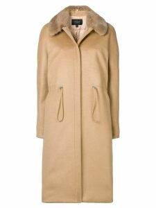 Giambattista Valli fitted midi coat - Neutrals