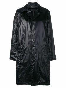 Haider Ackermann plain car coat - Black