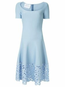 Oscar de la Renta lace hem dress - Blue