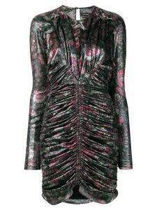 Isabel Marant ruched mini dress - Metallic