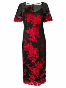 Antonio Marras floral embroidered sheer dress - Black