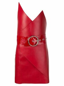 Manokhi belted pointy strapless mini dress - Red