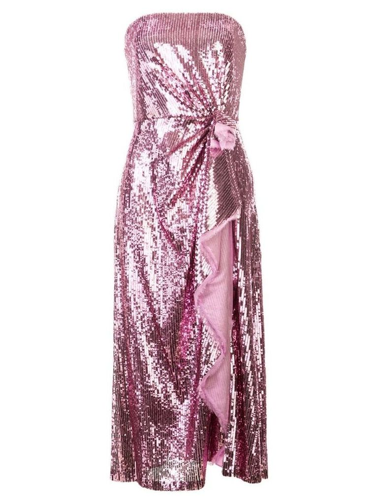 Prabal Gurung embellished strapless dress - Pink