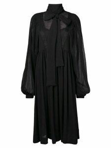 Rochas pussy bow midi dress - Black