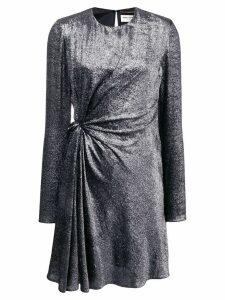 Saint Laurent gathered front mini dress - SILVER