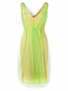 Prada tulle overlay dress - Green