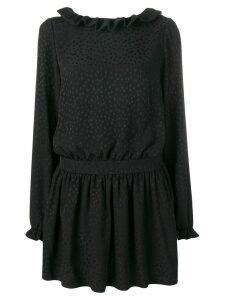 Saint Laurent flocked mini dress - Black