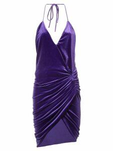 Alexandre Vauthier ruched mini dress - PURPLE