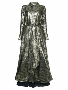 Layeur Berthe belted metallic dress - Black