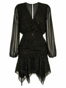 Haney Tavi V-neck handkerchief hem dress - Black