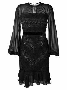Three Floor Diamond dress - Black