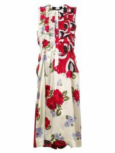 Simone Rocha multi-print midi dress - Neutrals