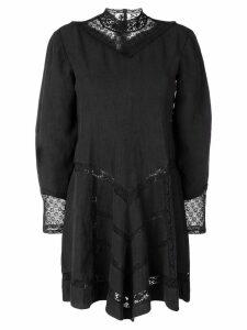 Isabel Marant lace panel short dress - Black